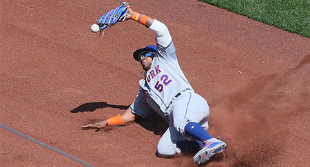 Yoenis Cespedes, Baseball-Spieler der New York Mets, in Aktion