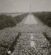 March on Washington at the Mall Stock Photo