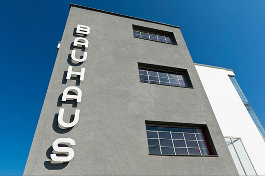 Bauhaus University, Dessau, Saxony-Anhalt, Germany. Stock Photo