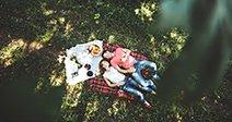Couple on a picnikStock Photo Stock Photo